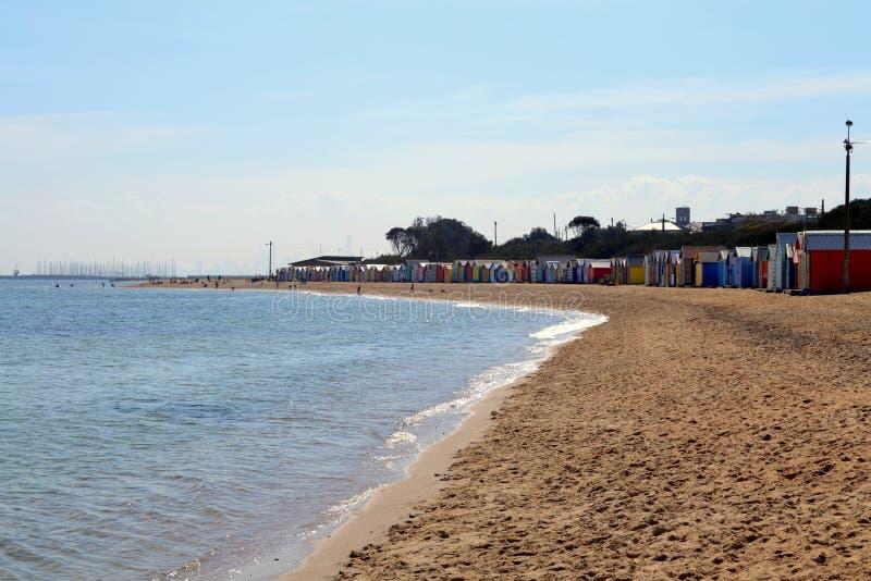 Brighton Beach Bathing Boxes fotografia stock