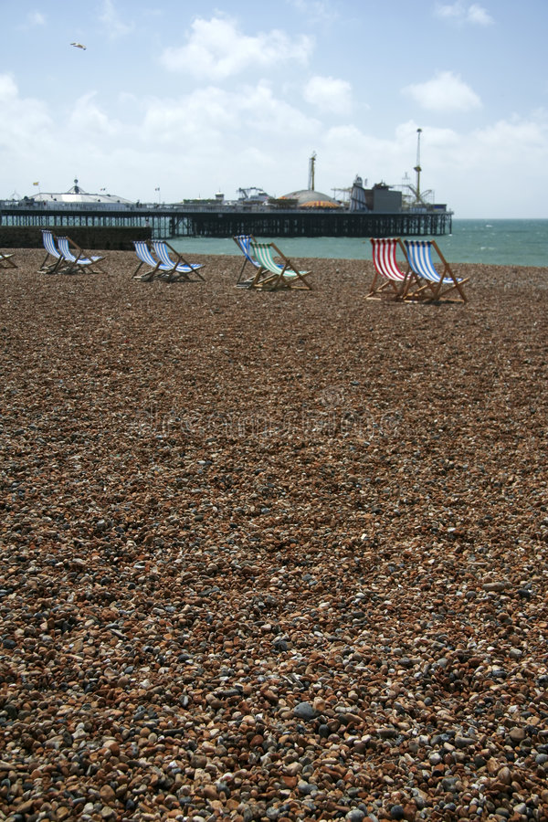 Download Brighton Beach Deckchairs Palace Pier Stock Photo - Image: 4547560