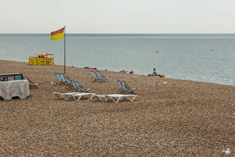 Brighton Beach, East Sussex, Engeland stock afbeeldingen