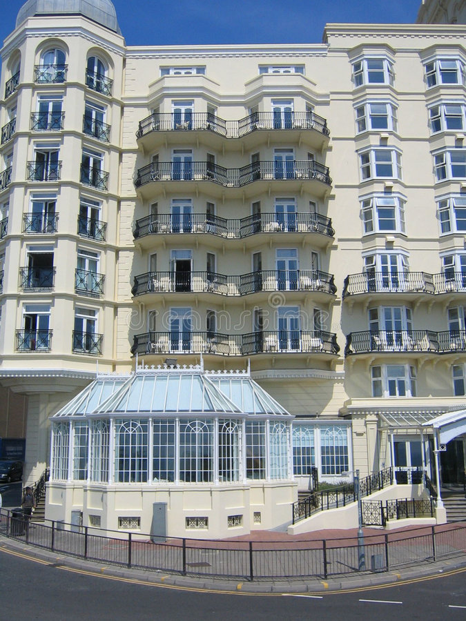 Brighton Beach Lodging Royalty Free Stock Photography