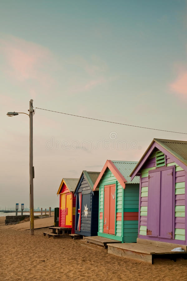 Download Brighton Beach, Melbourne stock image. Image of bathe - 14851391