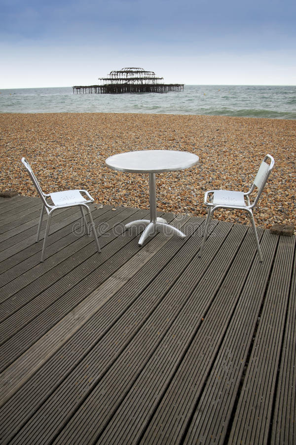 Download Brighton Beach Outside Dining Sussex England Stock Image - Image: 16379269