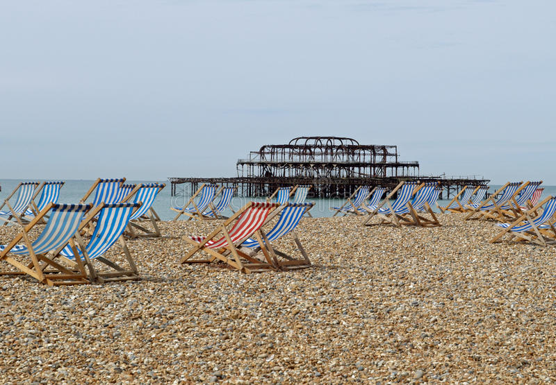 Brighton beach and Pier, Sussex royalty free stock image