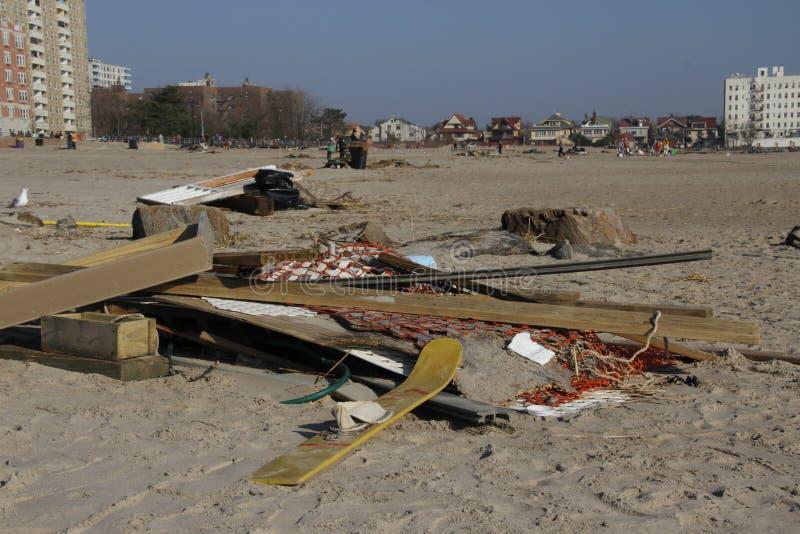 Download Brighton Beach post Sandy editorial stock photo. Image of sand - 27629968