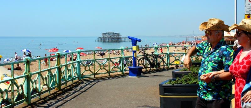 Brighton dalla spiaggia fotografia stock