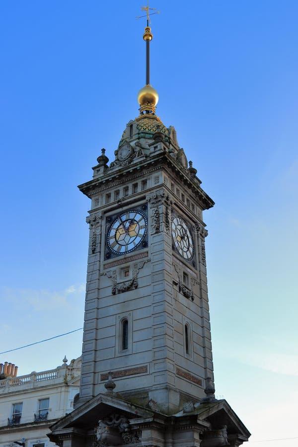 BRIGHTON, EAST SUSSEX, ANGLETERRE, R-U - 13 NOVEMBRE 2018 : La tour d'horloge au centre de Brighton, de Brighton et Hove images stock