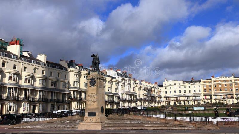 BRIGHTON, EAST SUSSEX, ANGLETERRE, ROYAUME-UNI - 7 FÉVRIER 2019 : Place de Regency à Brighton image libre de droits