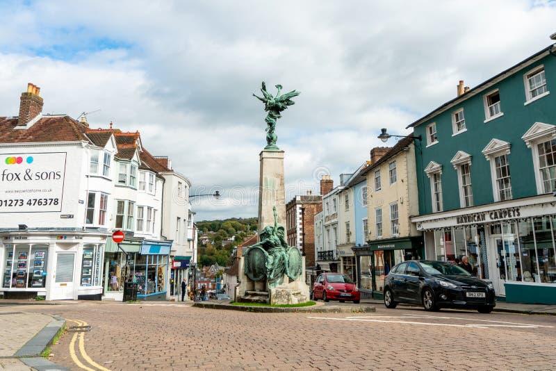 Brighton, Engeland - Oktober 3, 2018: Het gebied van het Lewesbehoud bij Wallands-Park, de stad van de provincie van East Sussex  royalty-vrije stock foto