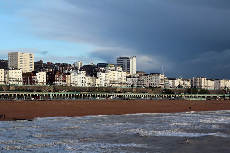 Brighton, England. Brighton is a town on the south coast of England royalty free stock image