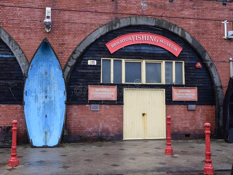 Brighton Fishing Museum foto de archivo