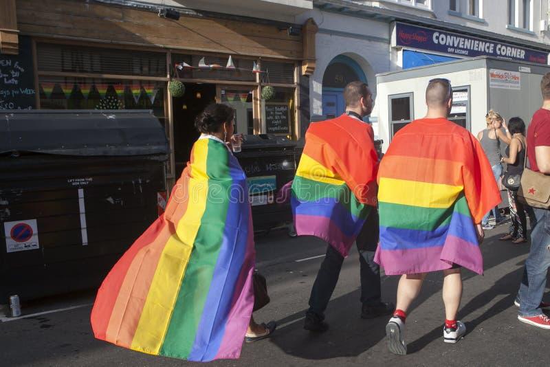 Brighton Gay Prid royaltyfri bild