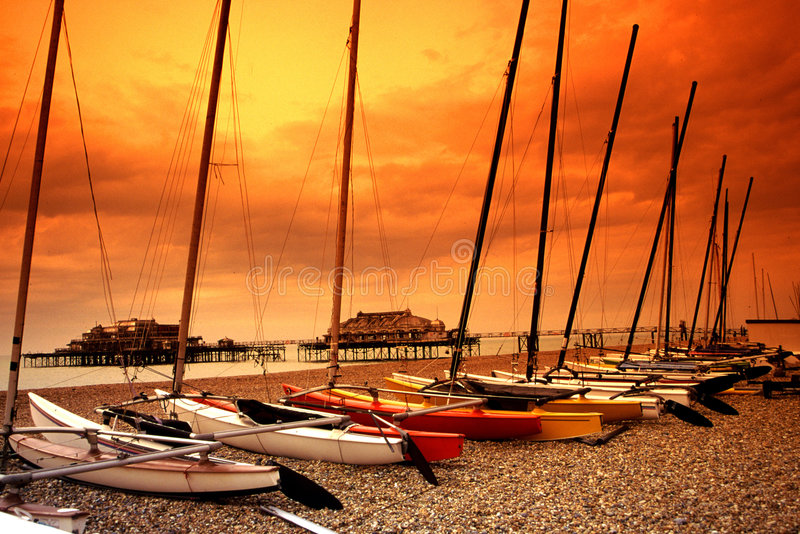 Brighton, het UK    stock fotografie