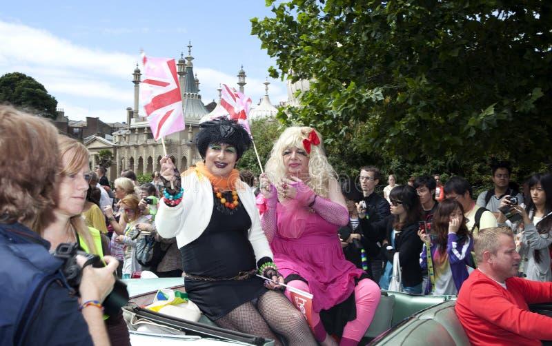 Brighton-homosexuelle Stolzparadefeier lizenzfreie stockbilder