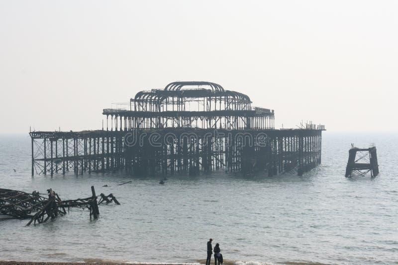 Brighton - il pilastro ad ovest fotografia stock