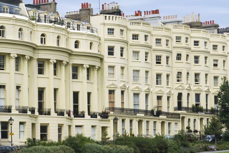 Appartamenti di periodo della reggenza della via di Brighton immagini stock
