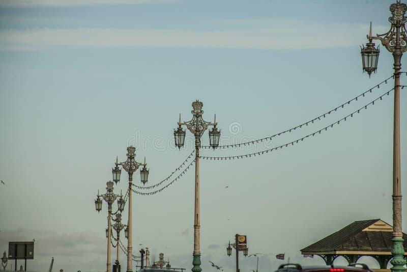 Brighton, Inghilterra - poste della lampada fotografia stock