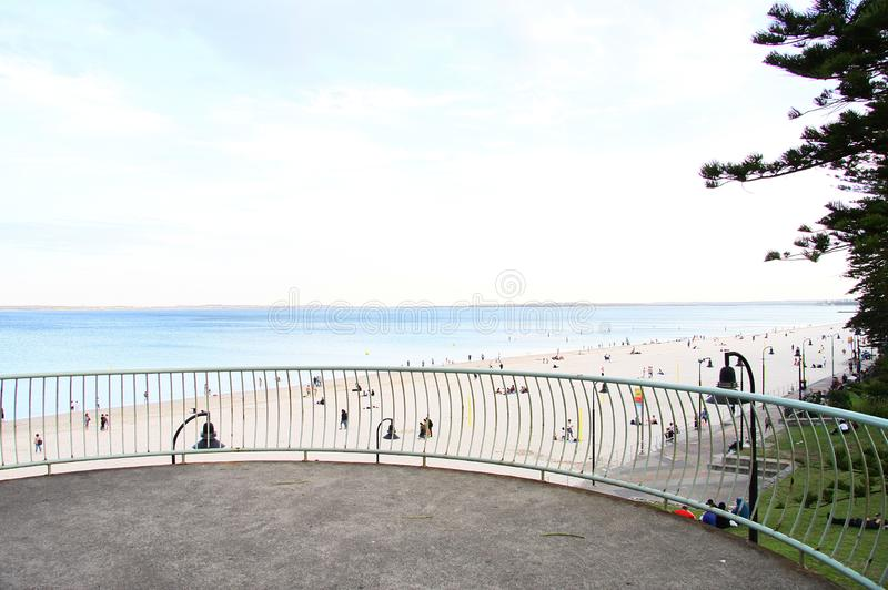 Brighton Le-Sands Beach, Botany Bay, Sydney, Austrália fotografia de stock royalty free