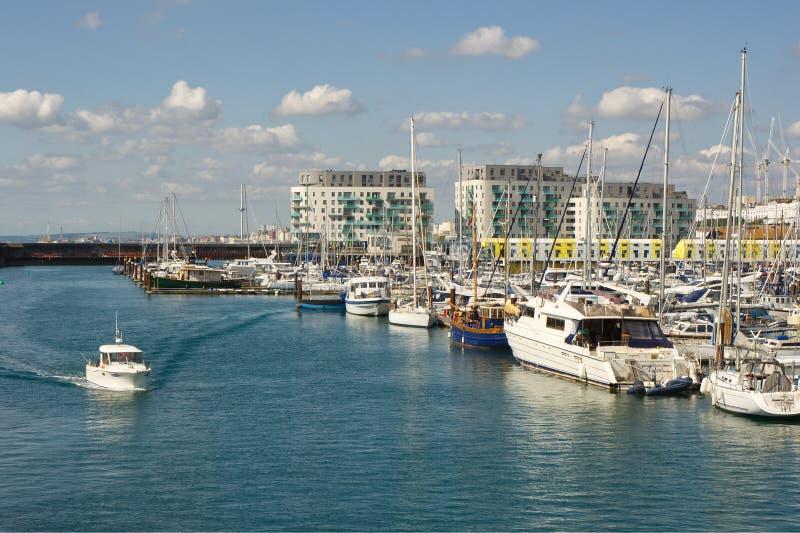 Brighton Marina, le Sussex, Angleterre photos libres de droits