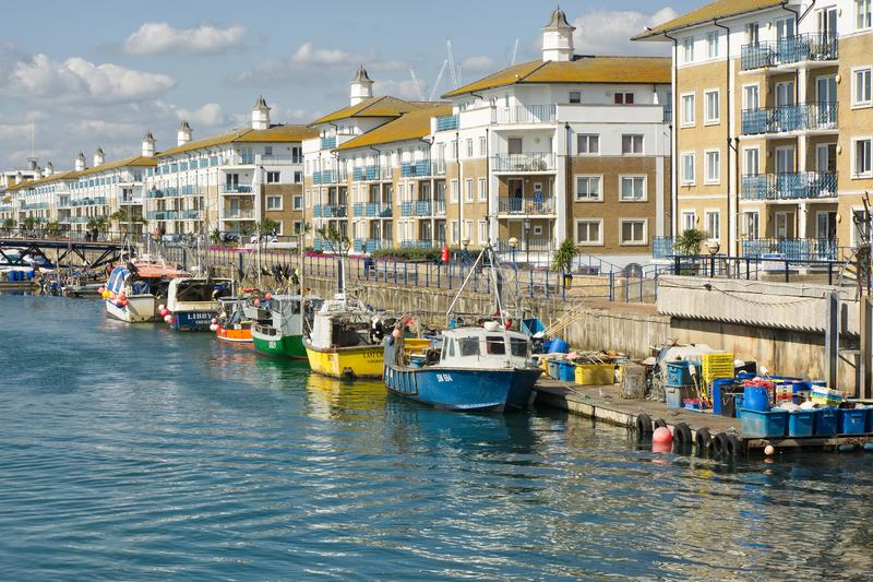 Brighton Marina, le Sussex, Angleterre photos stock