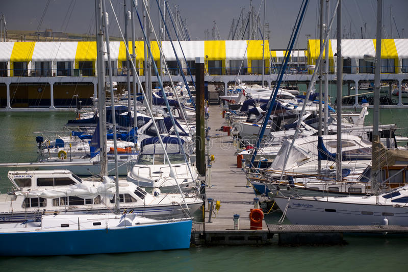 Brighton Marina. Private and commercial boats moored at Brighton Marina on a summers day stock photos