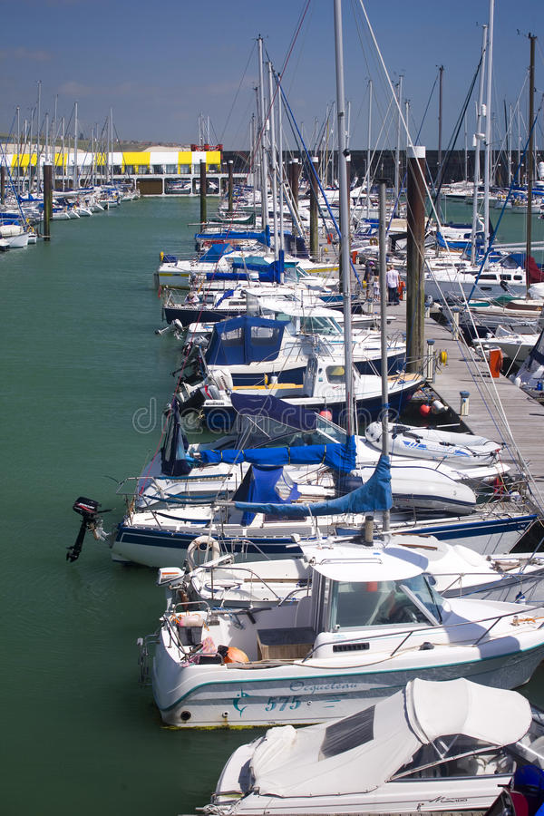 Brighton Marina. Yachts and boats moored at Brighton Marina on a summers day royalty free stock photography