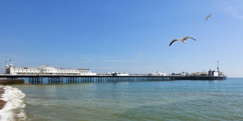 Brighton mola panorama obraz stock