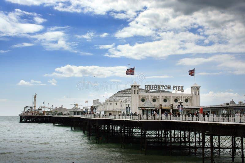 Brighton-Palast-Pier, England stockbild