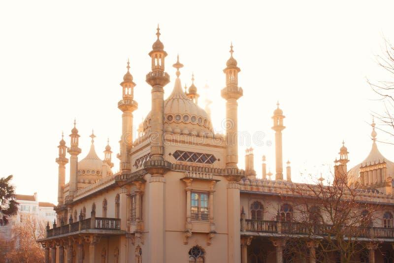 Brighton Pavilion, the Royal Pavilion in Brighton, United Kingdom. Famous landmark in the seaside resort Brighton, East Sussex, United Kingdom royalty free stock images