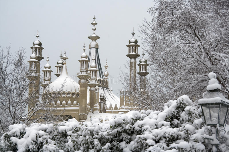 Brighton-Pavillion im Winter lizenzfreies stockbild
