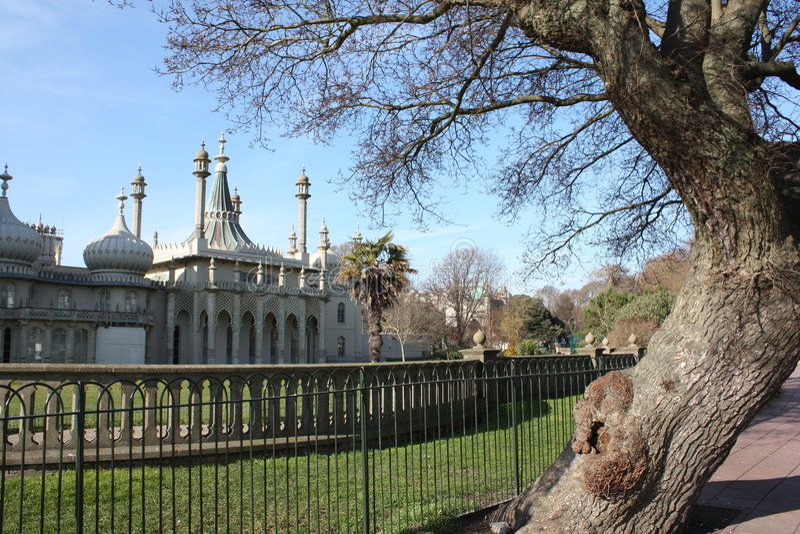 Brighton Pavillion real (Sussex, Reino Unido) foto de archivo libre de regalías