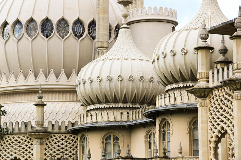 Brighton pavillions ornate dome roof sussex uk royalty free stock images