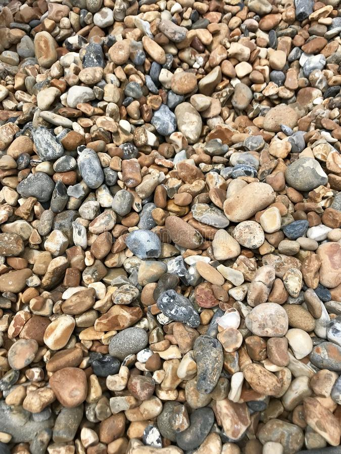 Brighton pebbles stock image