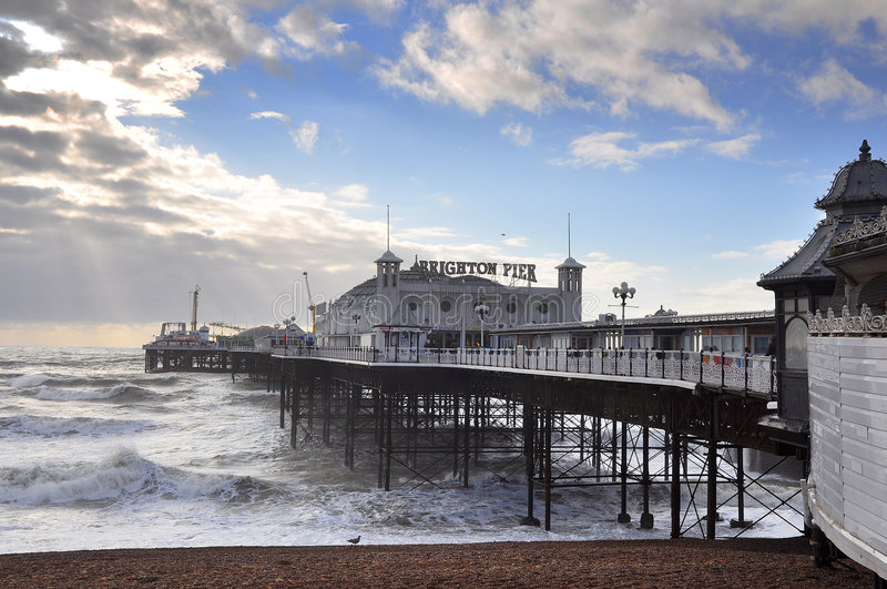 Download Brighton Pier stock photo. Image of holiday, fair, sunshine - 7409012