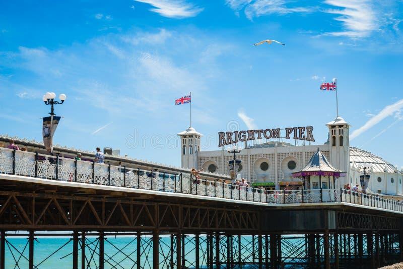 Brighton Pier. Amusement pier of Brighton in southern England. August 2014 royalty free stock photos