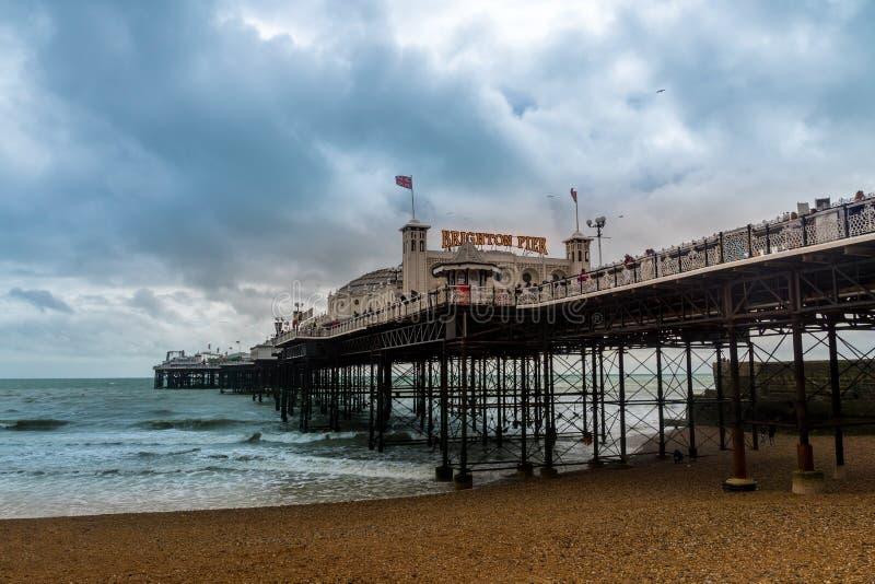 Brighton Pier in Brighton, Oost-Sussex, Engeland, het Verenigd Koninkrijk stock foto