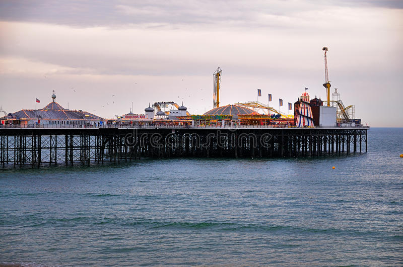 Download Brighton Pier In The Evening Editorial Stock Image - Image: 20892349