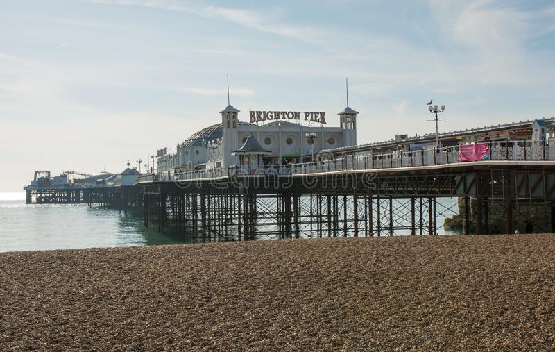 Brighton Pier, Oost-Sussex, Engeland stock afbeeldingen