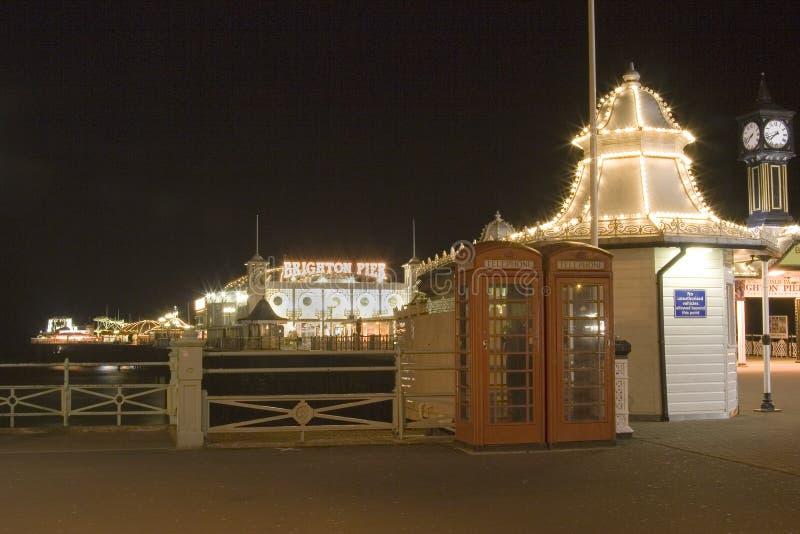 Brighton Pier South England At Night stock image