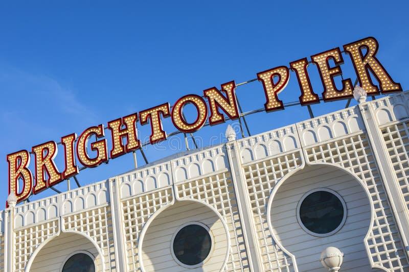 Brighton Pier in Sussex orientale fotografie stock libere da diritti