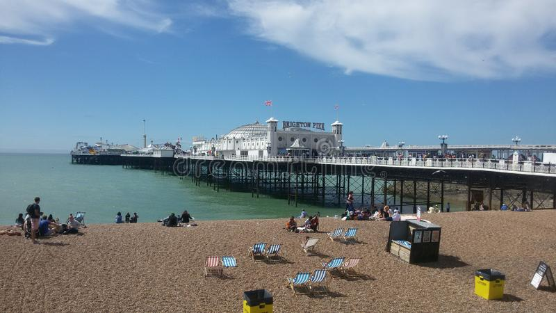 Brighton pier in uk. You can see the brighton pier in uk stock images