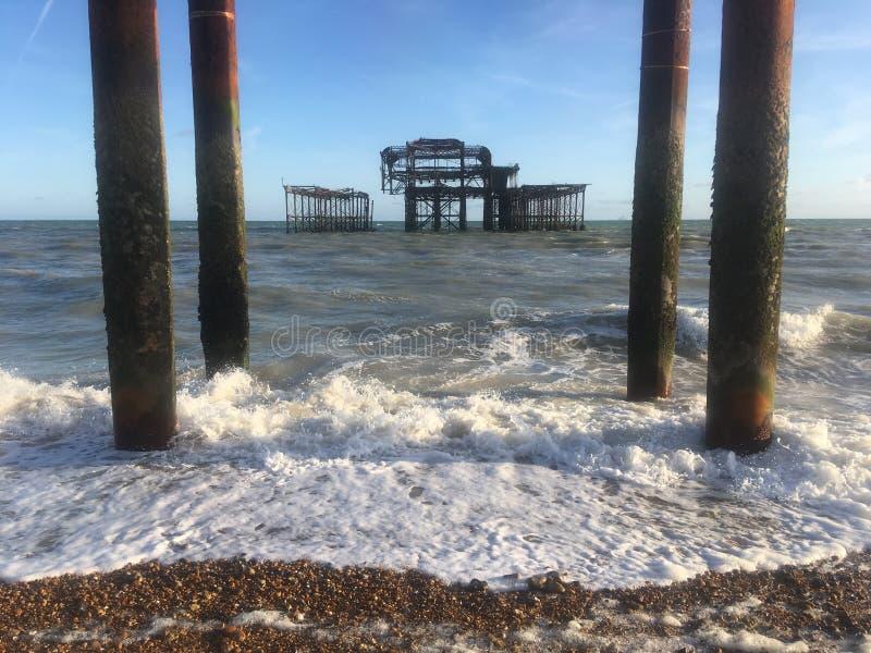 brighton pier west fotografia royalty free