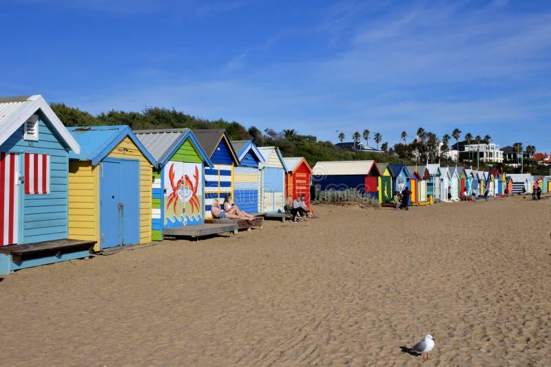Brighton plaża Melbourne Wiktoria Australia fotografia stock