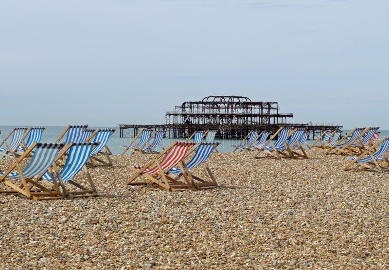 brighton plażowy molo Sussex obraz royalty free