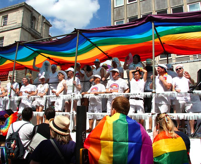 Brighton Pride-Parade lizenzfreie stockbilder
