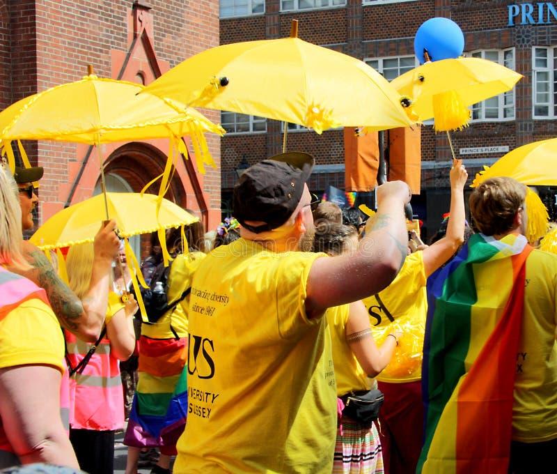 Brighton Pride-Parade stockbilder