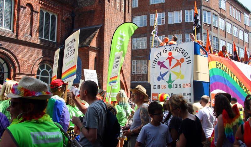 Brighton Pride ståtar arkivbild
