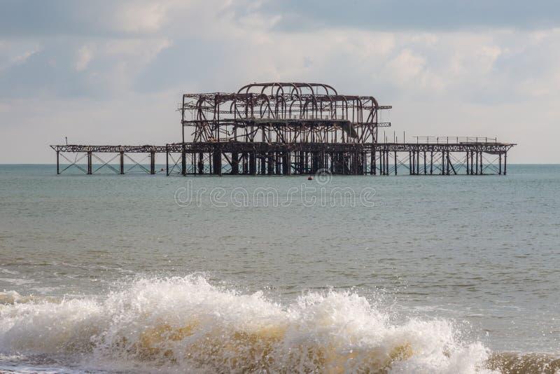 Brighton ` s Zachodni molo zdjęcia royalty free