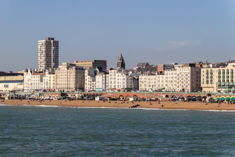 Brighton Seafront lizenzfreie stockbilder
