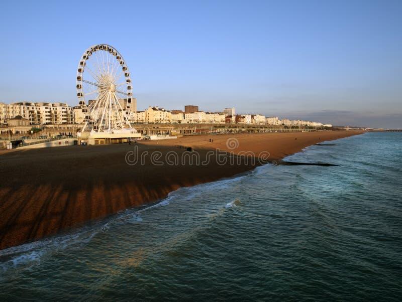 Brighton seafront UK. Ferris wheel at Brighton beach seafront UK royalty free stock photo