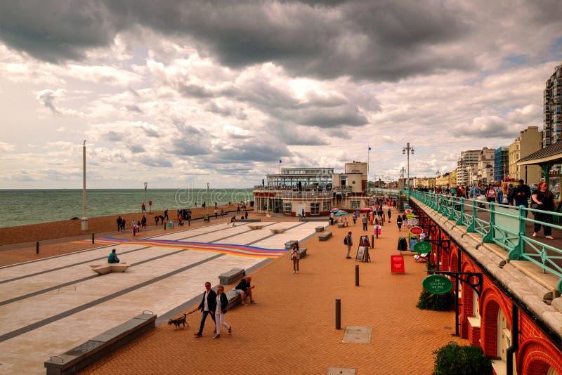 Brighton Seafront, Vereinigtes Königreich lizenzfreie stockfotos
